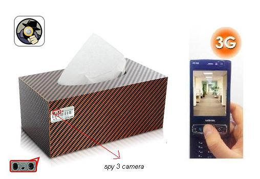 SPY 3G HIDDEN CAR TISSUE PAPER BOX CAMERA In Pali